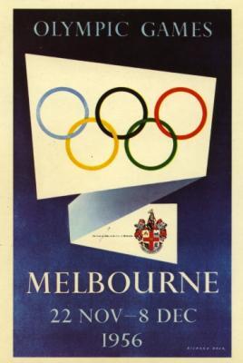 1313340 affiche officielle des jeux olympiques de melbourne en 1956