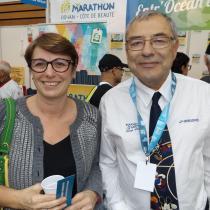 Laurence SENECHAULT (Bnévole Fressi'nature) avec Jean-Jacques GODARD Président de la Commission National des Courses Hors Stade et Président de la Ligue d'Ile de France.